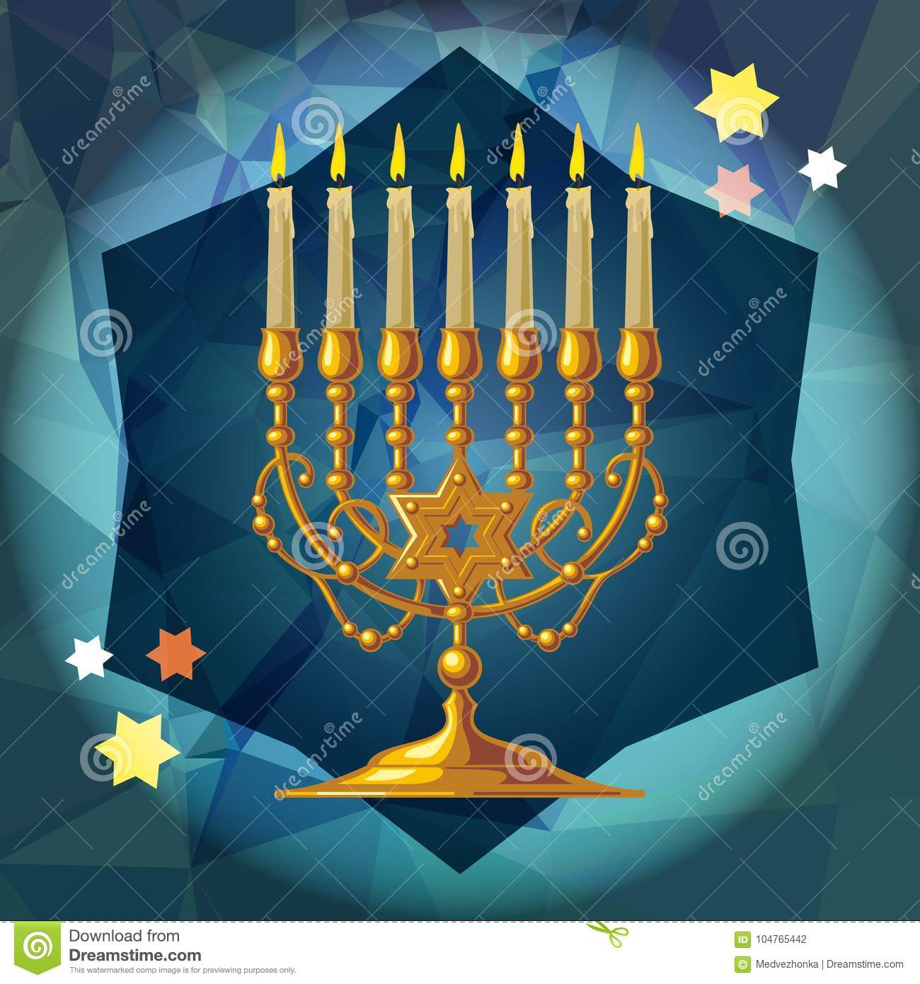 Menorah d or