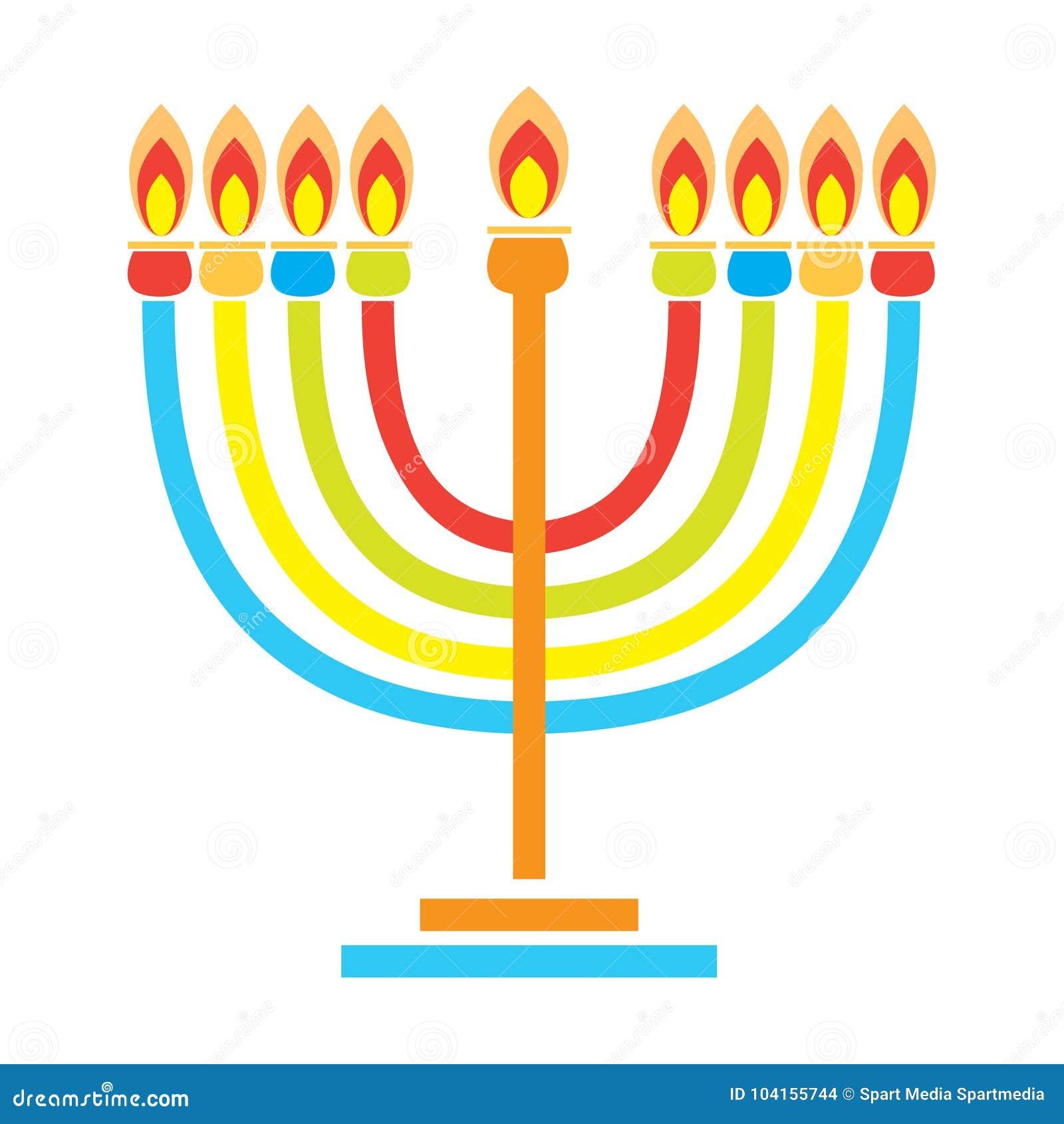 Menorah Hanukkah Holiday Wallpaper Candelabrum