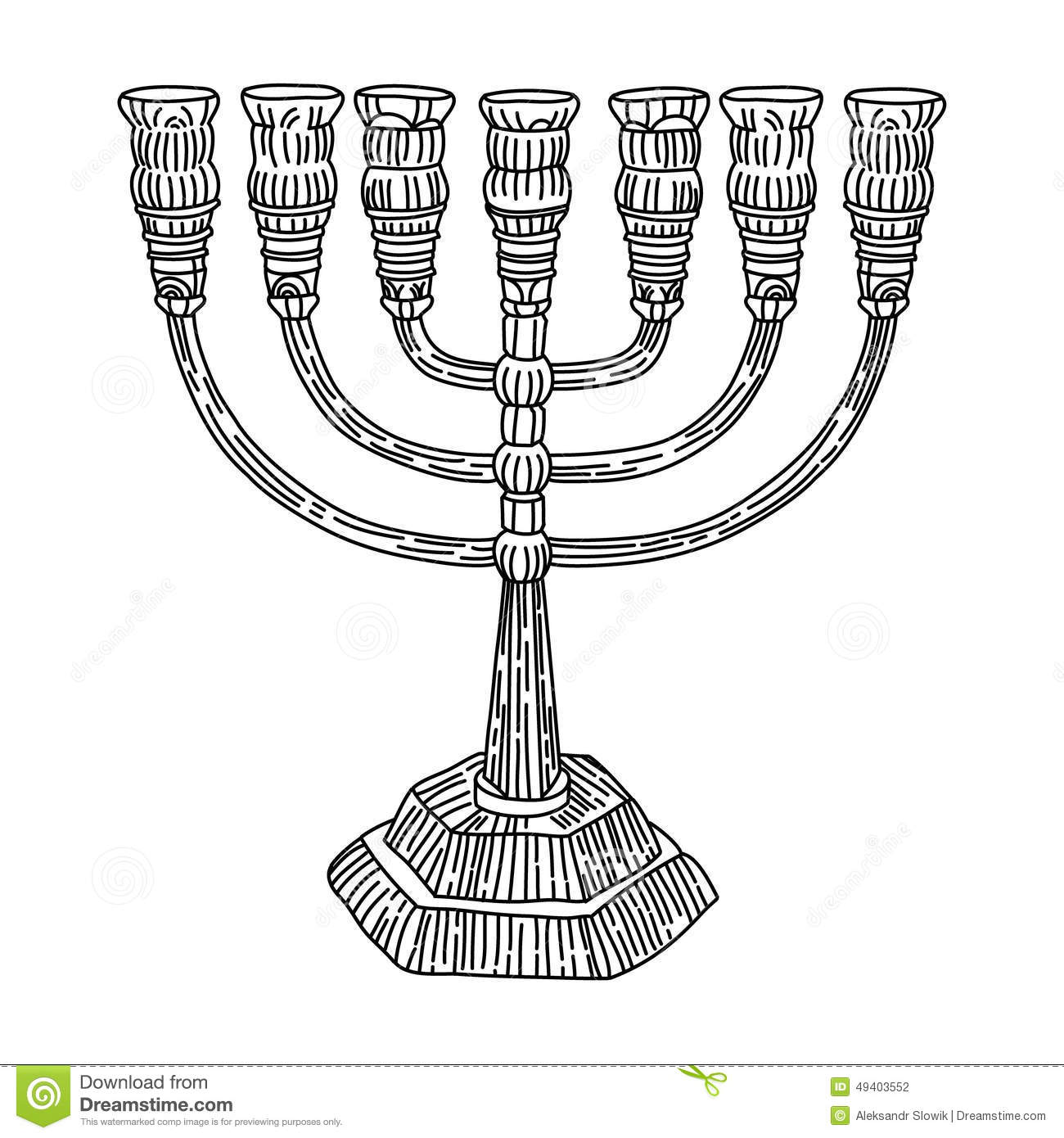 Download Menorah-Judentum vektor abbildung. Illustration von menorah - 49403552