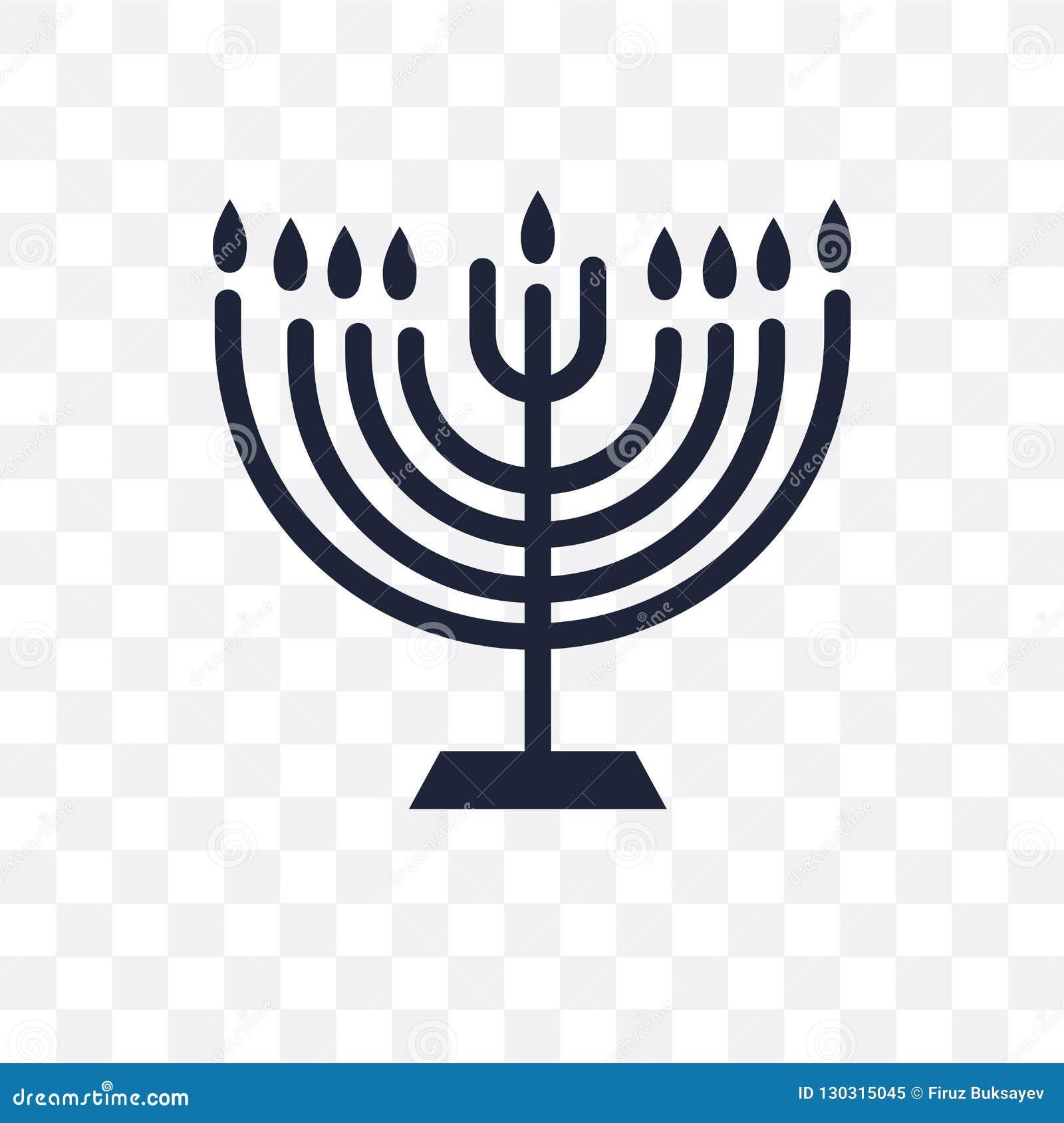 Menorah transparent icon. Menorah symbol design from Religion co