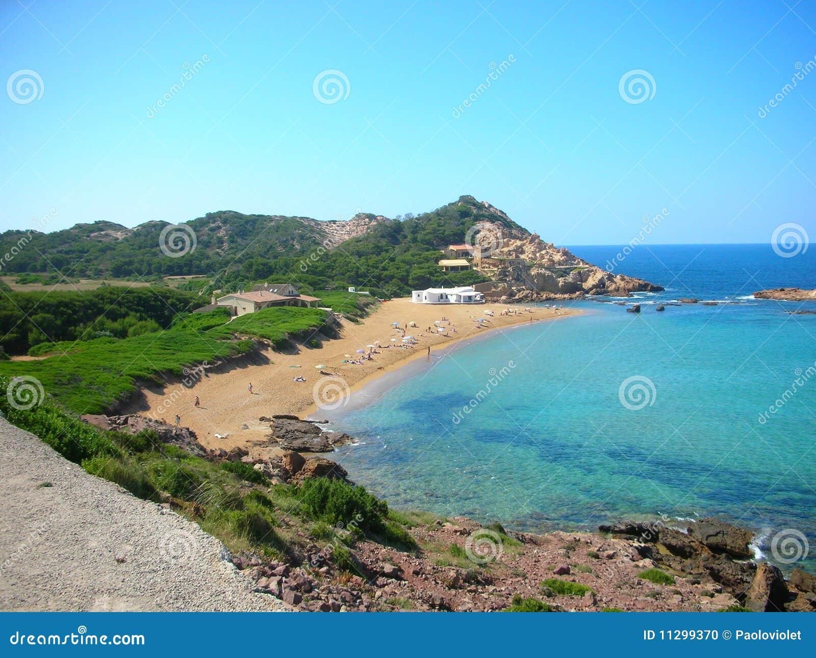 Menorca - Cala Pregonda Stock Foto - Beeld: 11299370