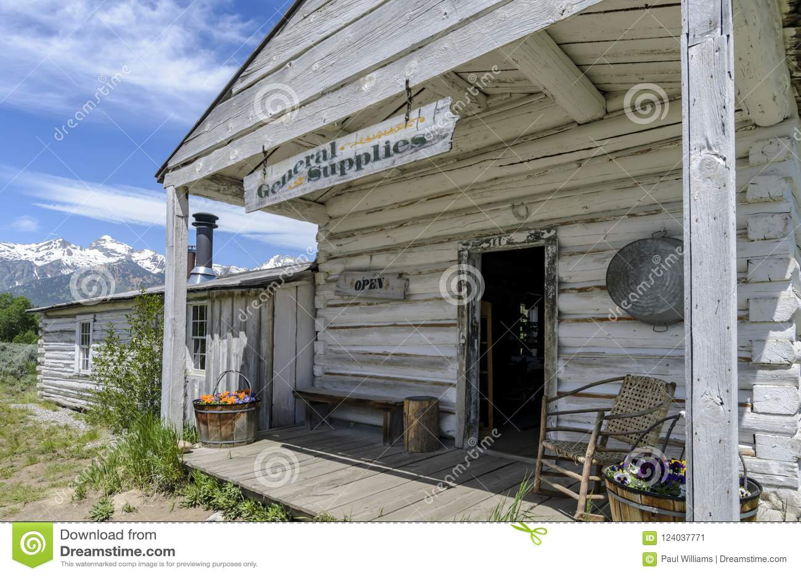 Menors历史的一般性补给商店盛大Tetons