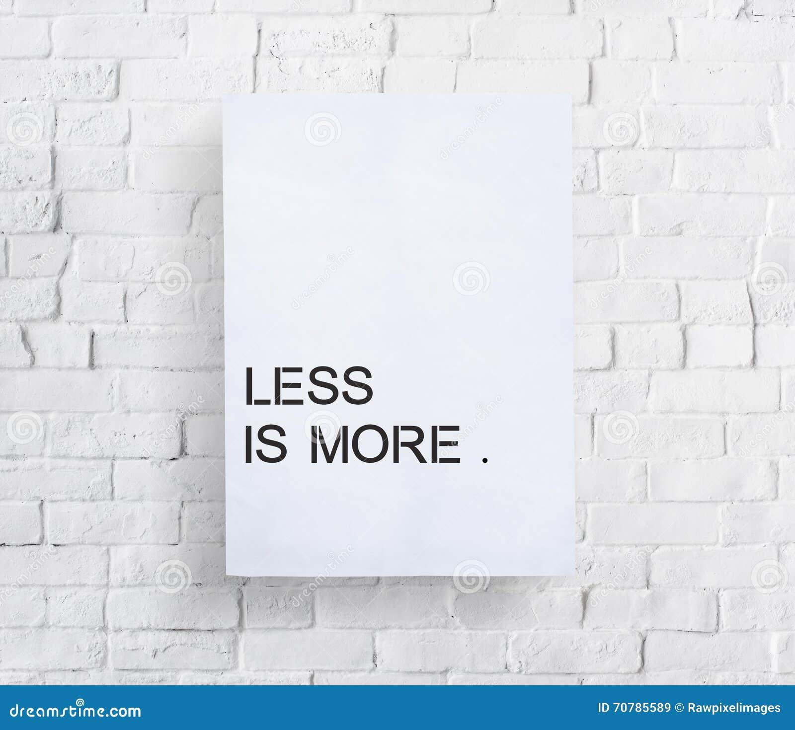 Menos es un concepto más mínimo de la sencillez de la sencillez de la simplicidad