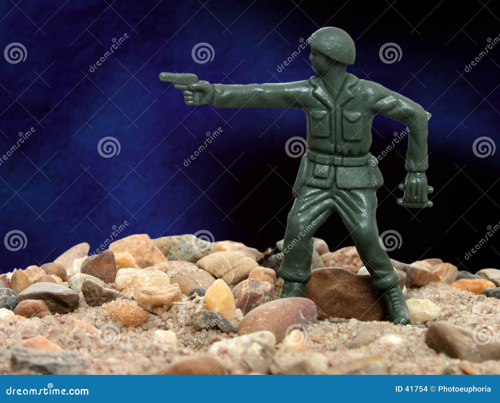 Mens 01 van het Leger van het stuk speelgoed Groene