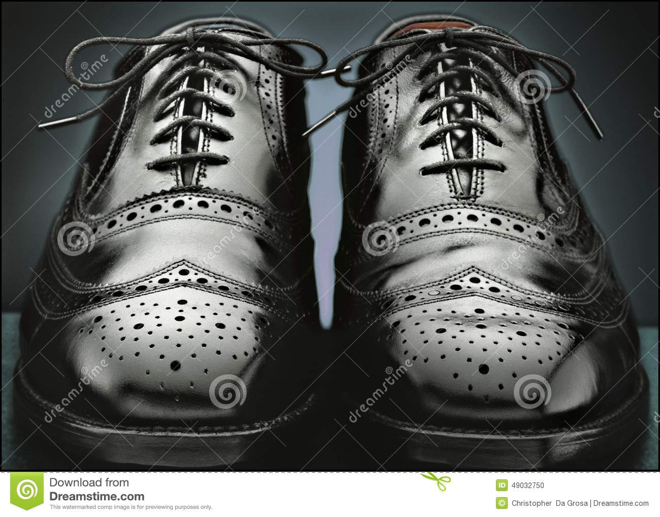 Mens black wingtip shoes stock photo. Image of grey, dress ...