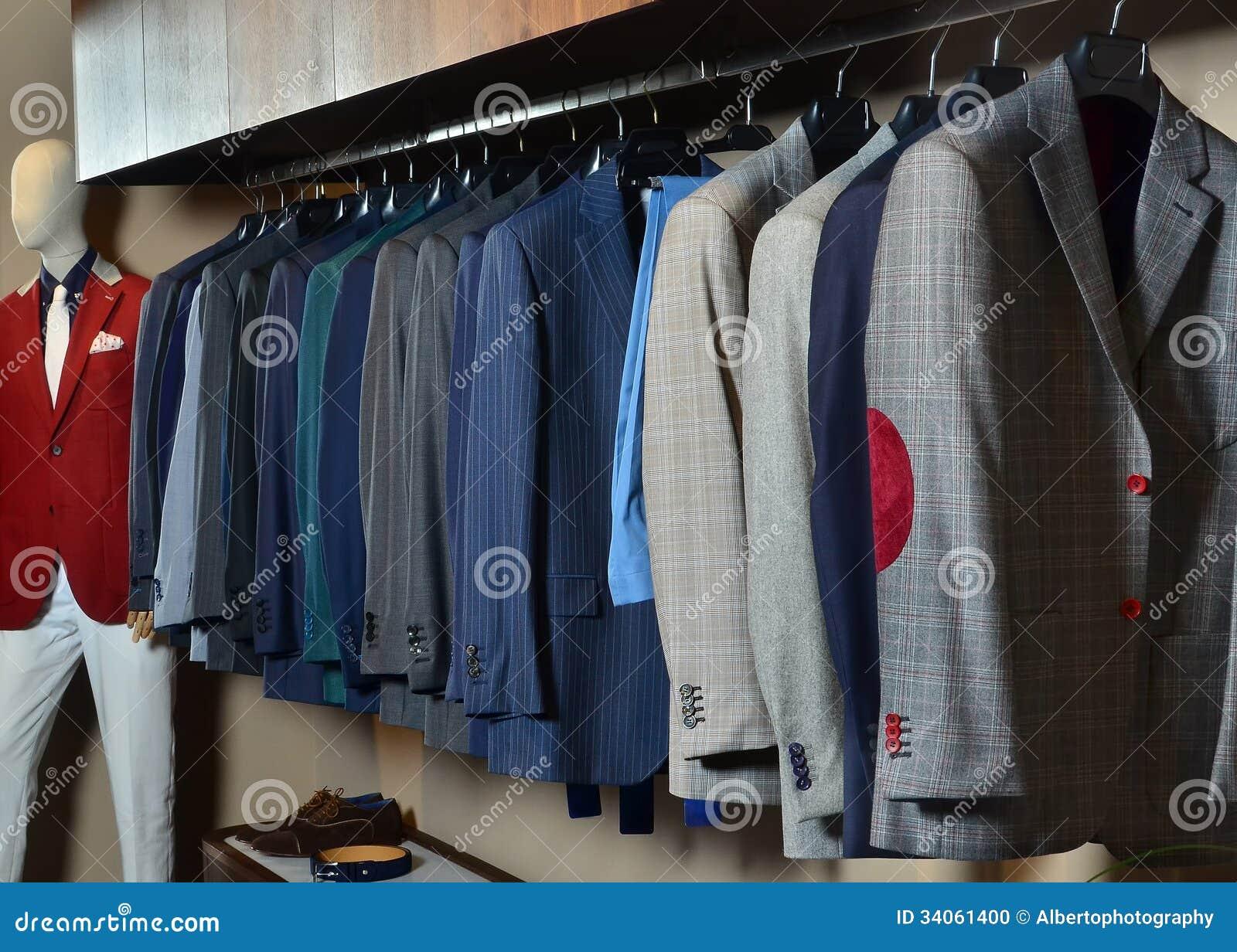 Stock Photo: Mens clothing store