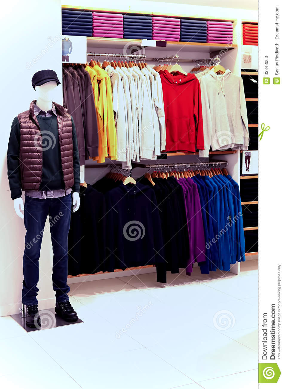mens clothing store stock photos image 33343003