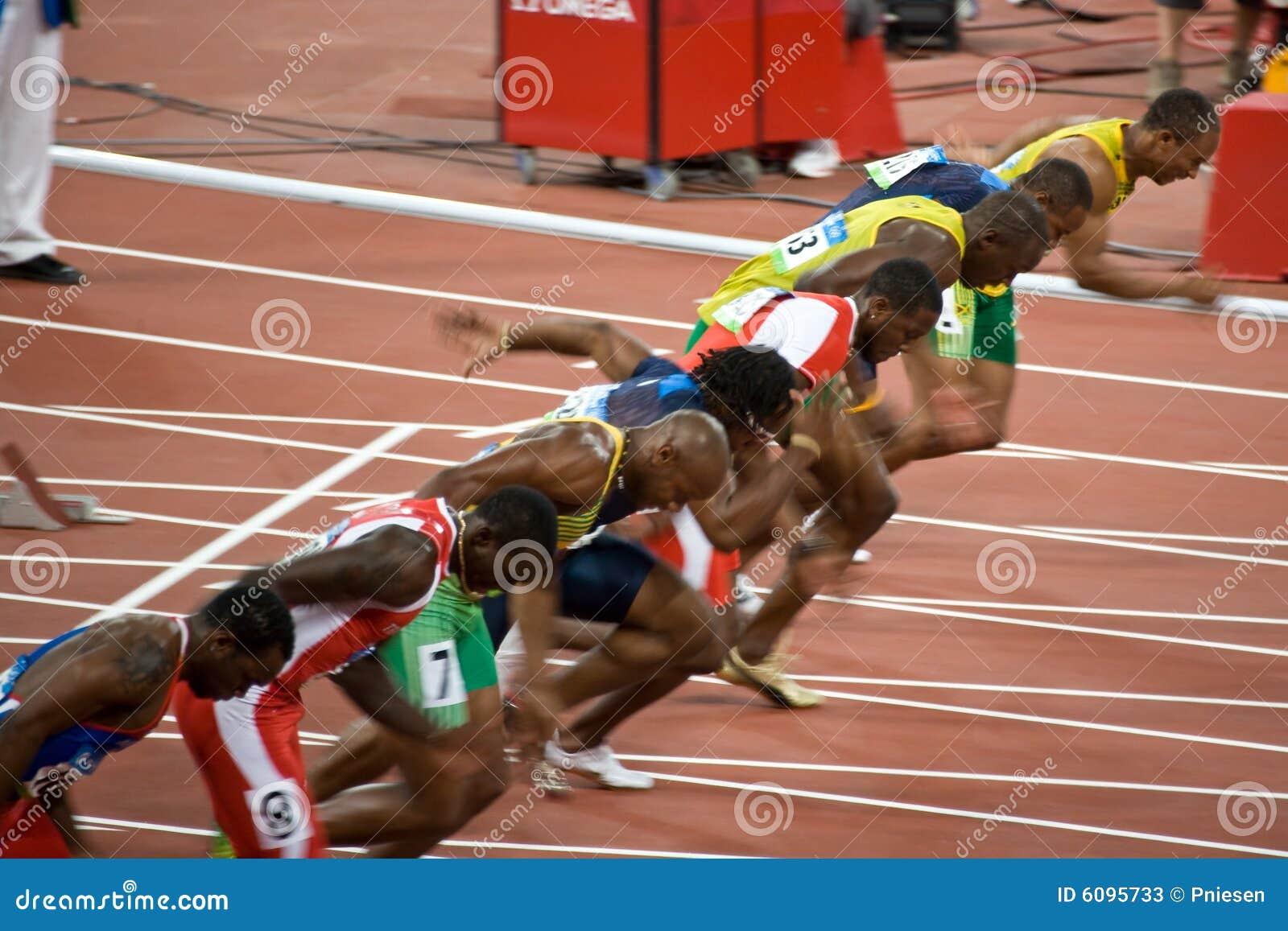 Mens de las Olimpiadas sprint de 100 contadores