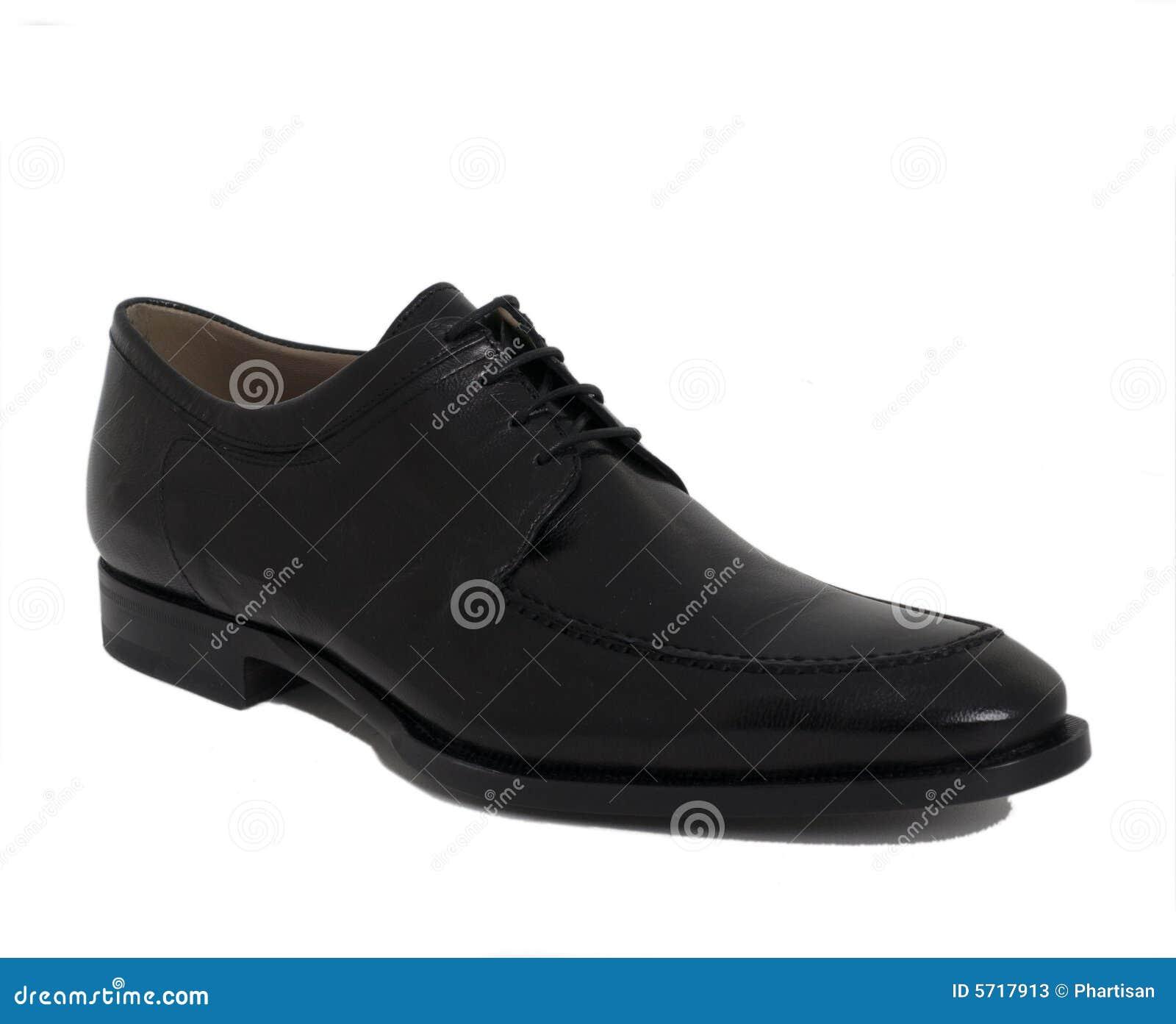 mens designer black leather shoe stock photos image 5717913