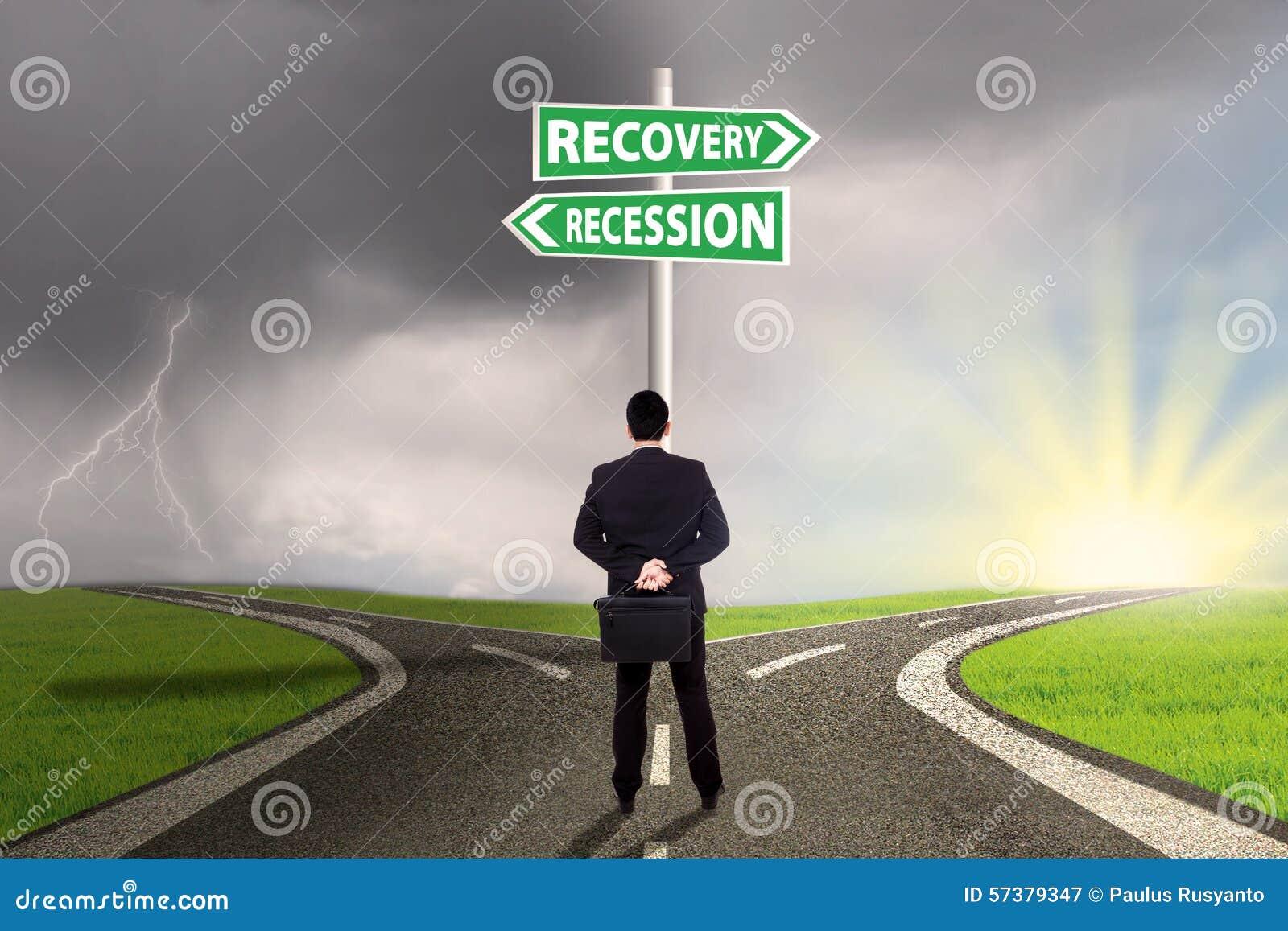 Mens die de weg kiezen aan terugwinning of recessiefinanciën