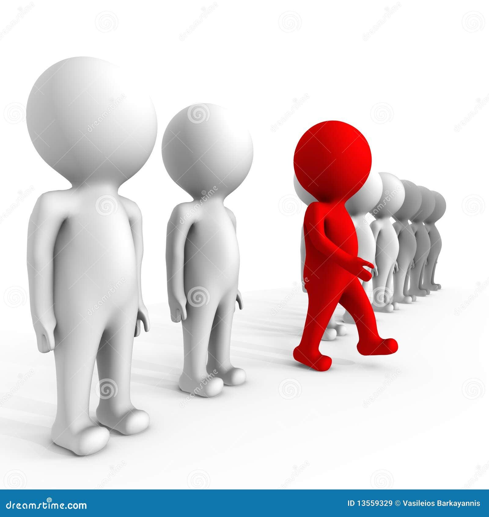 Mens die het verschil maakt - een 3d beeld
