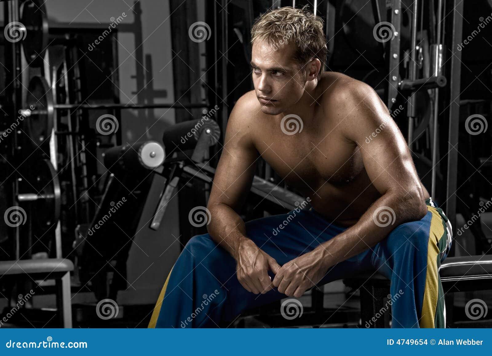 Mens die na training rust