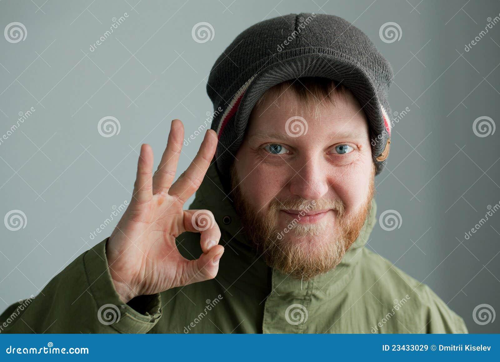 Mens in een hoed