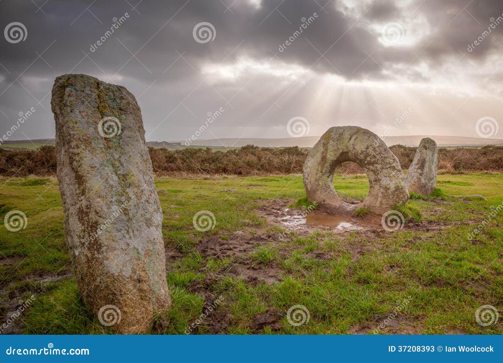 Mens-een-Tol Cornwall Engeland het UK