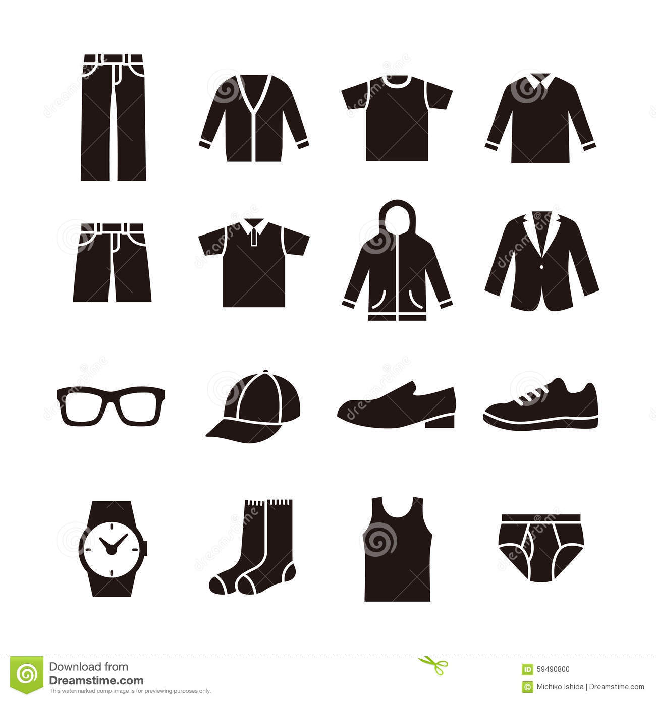 Mens Fashion Icon Stock Illustration Image 59490800