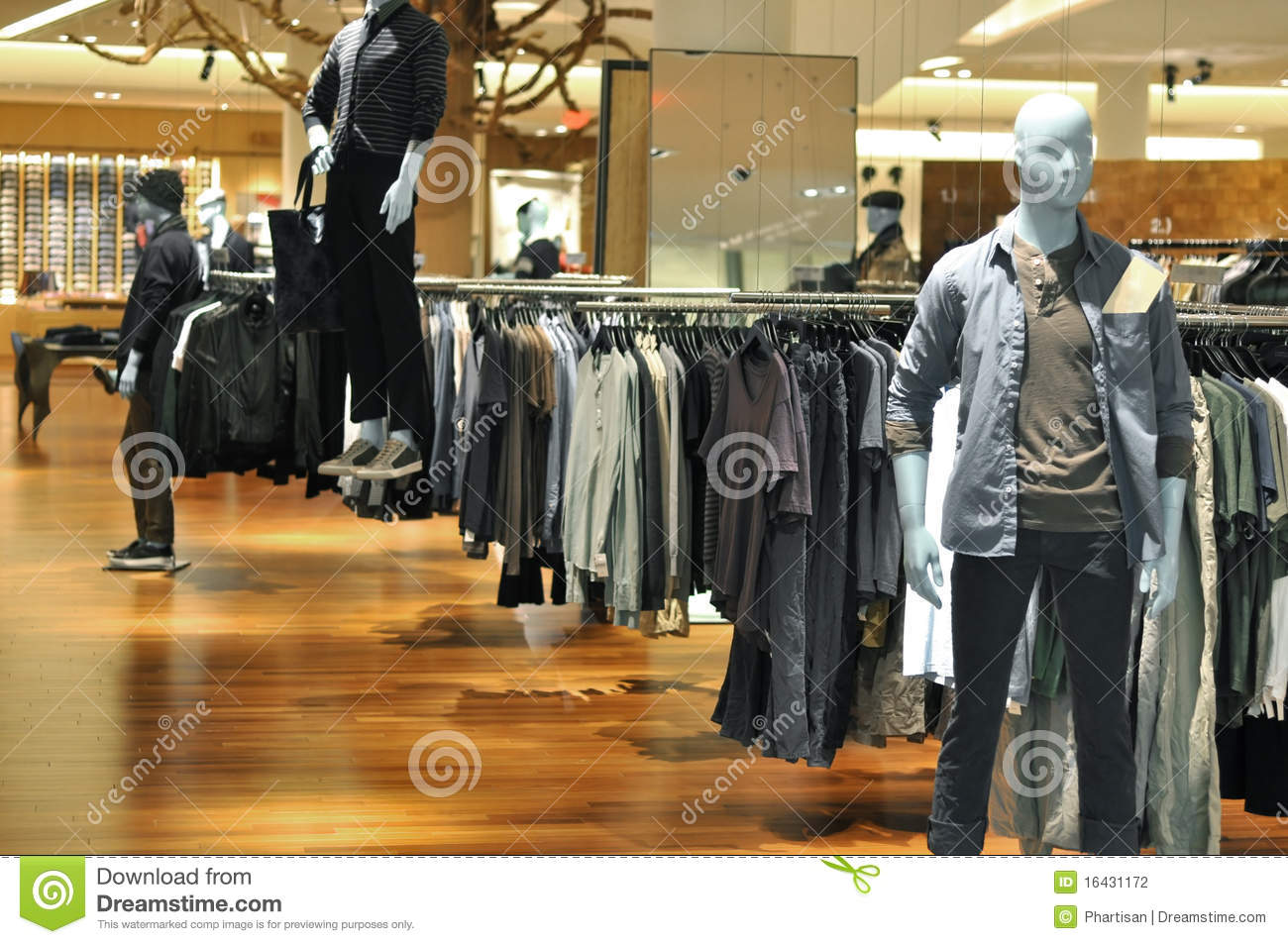 mens fashion mannequin in store stock photography image