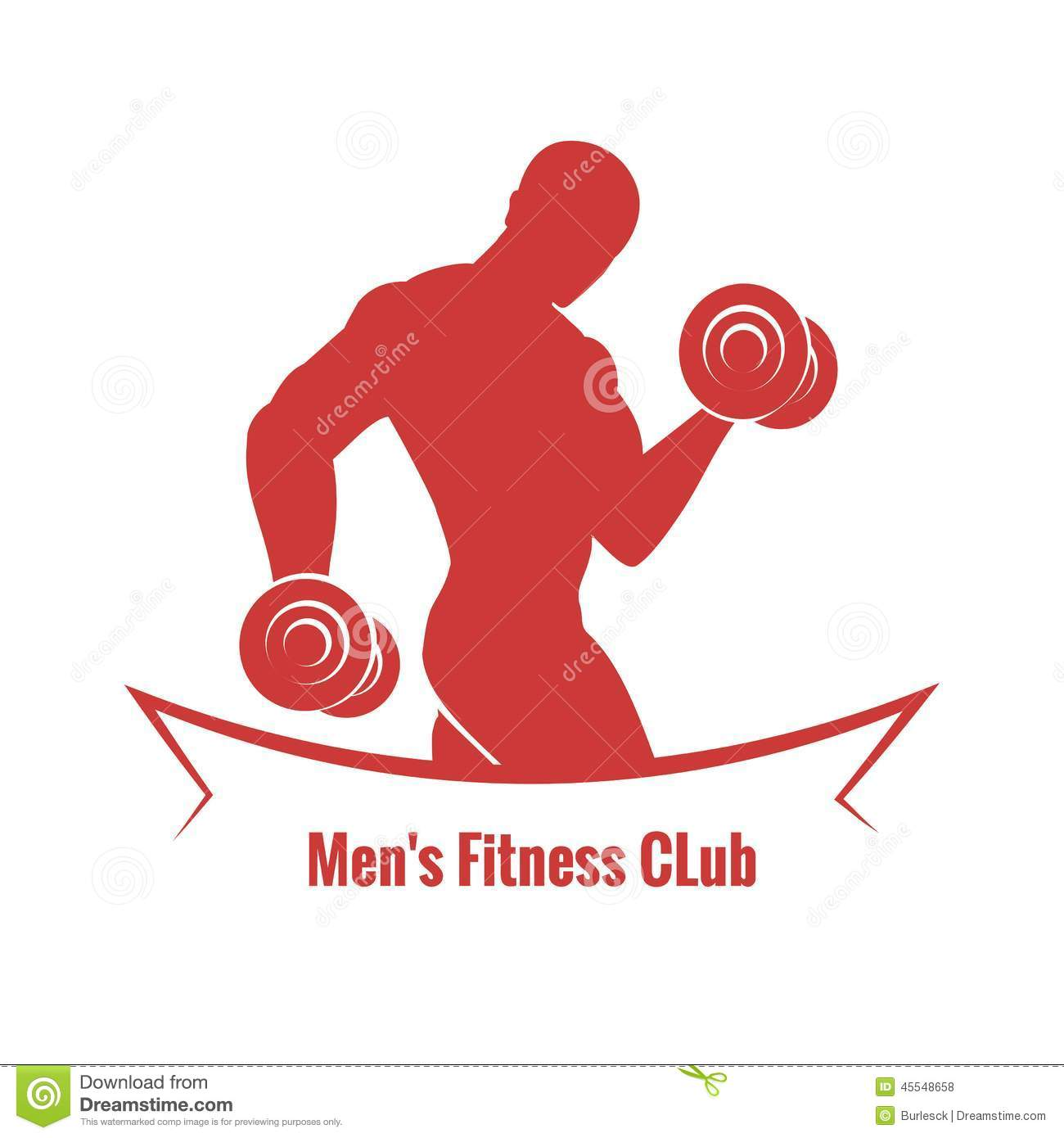 mens fitness club logo stock photo image of shoulders