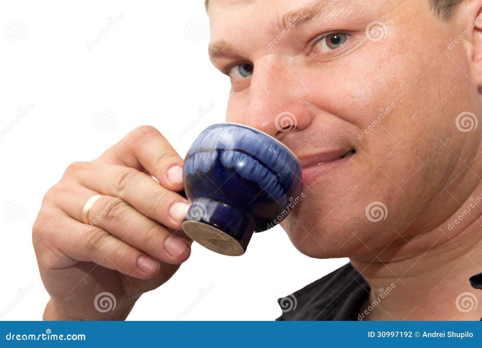 Mens het drinken thee