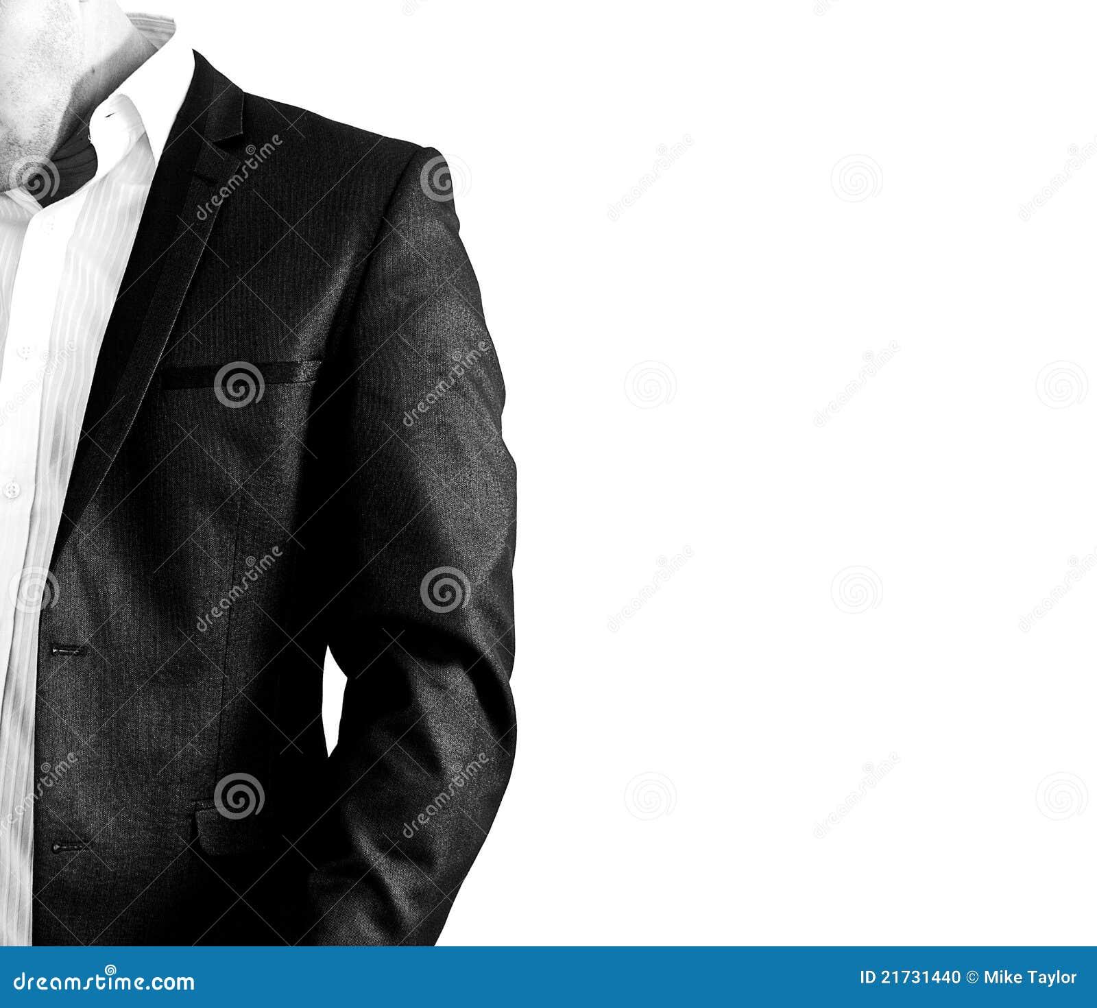 Mens in kostuum