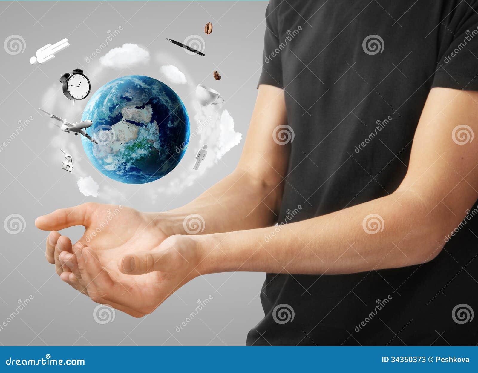 Mens met aarde
