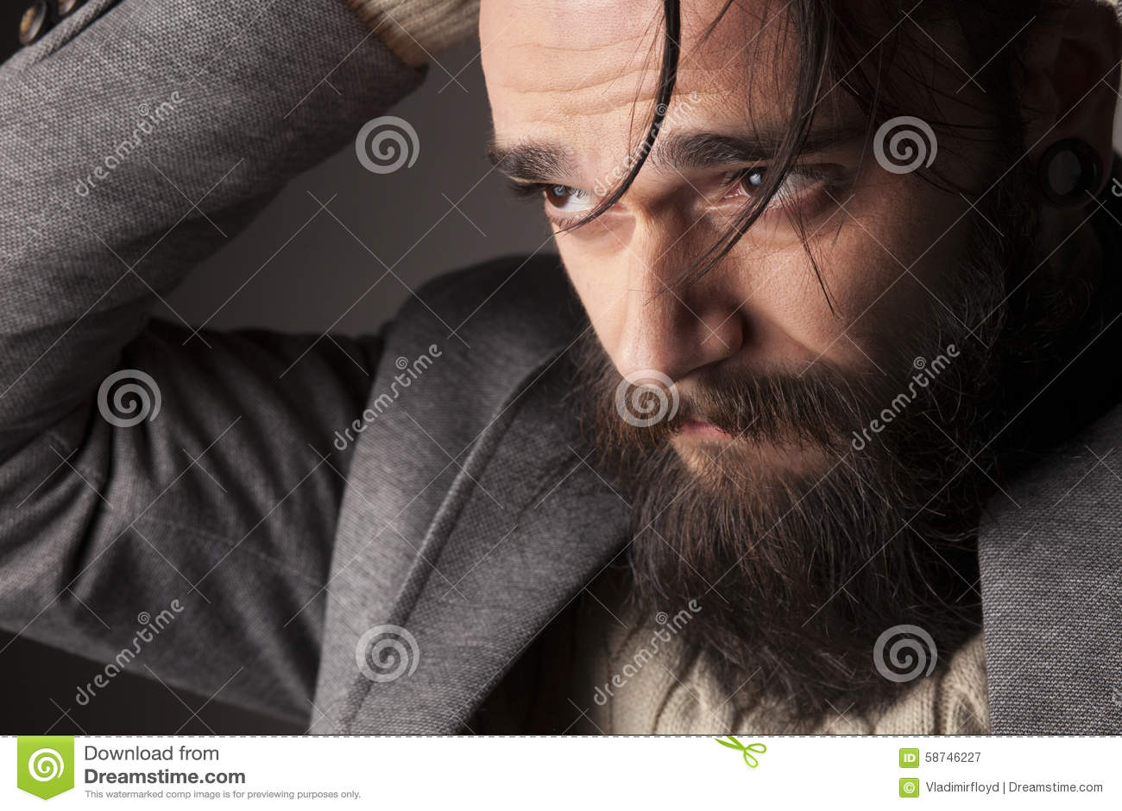 Mens met baard