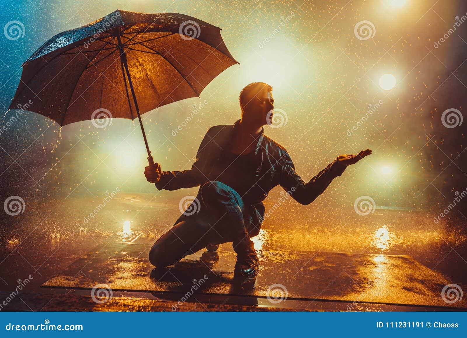 Mens met Paraplu