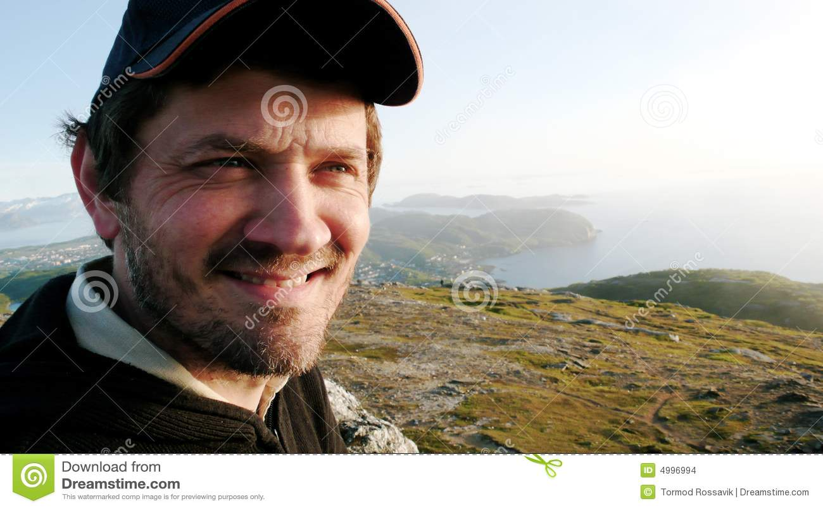 Mens op een berg