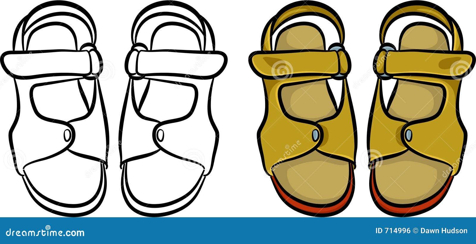 24b75e4d47c8a Mens sandals stock illustration. Illustration of clipart - 714996