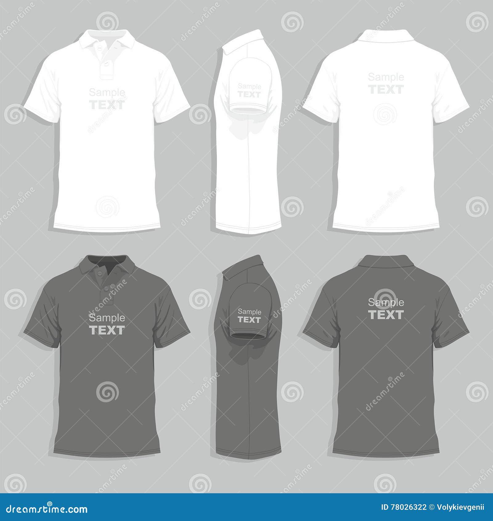 341e664e4 Mens T-shirt Design Template Stock Vector - Illustration of side ...