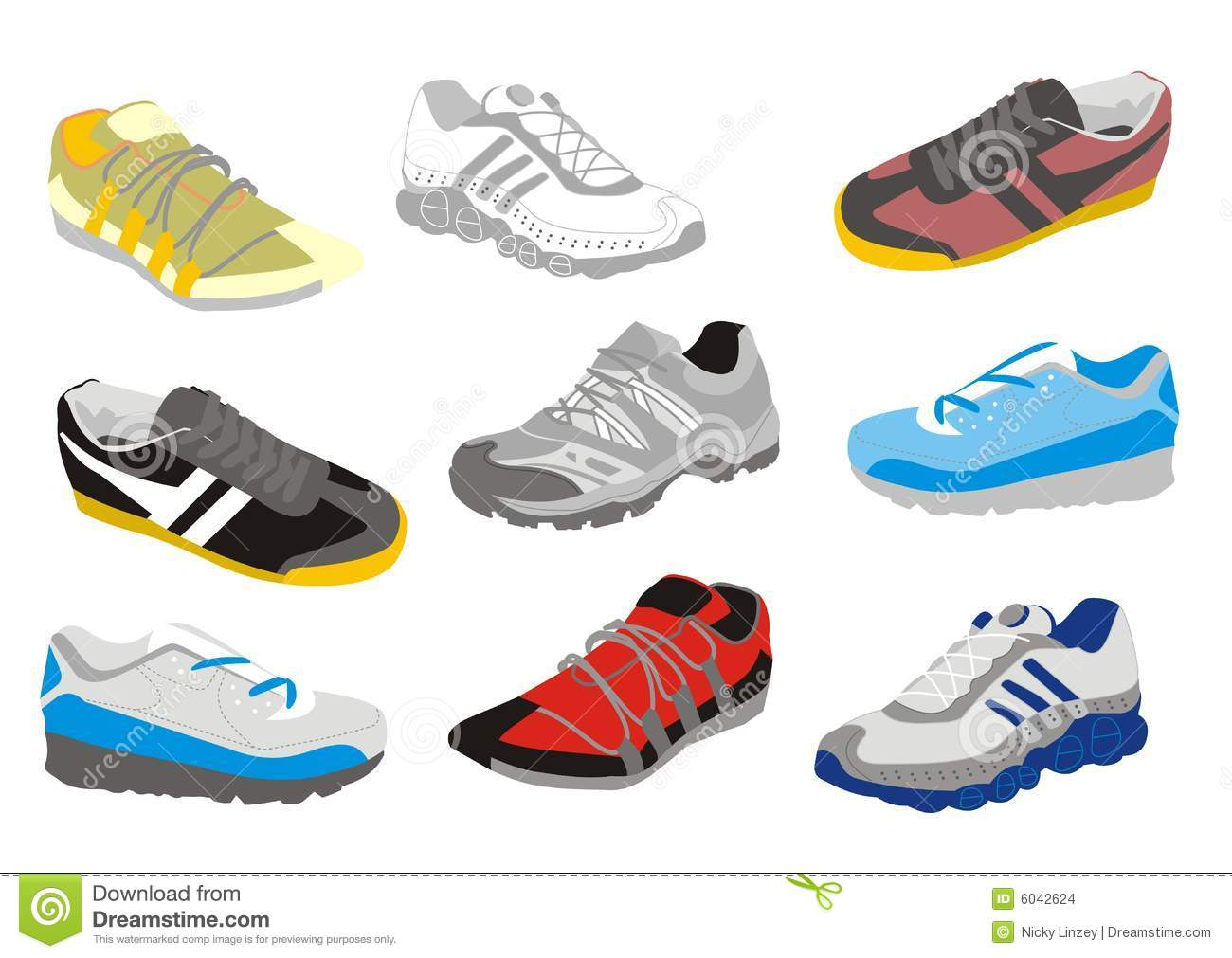 Stock Images: Mens training shoes