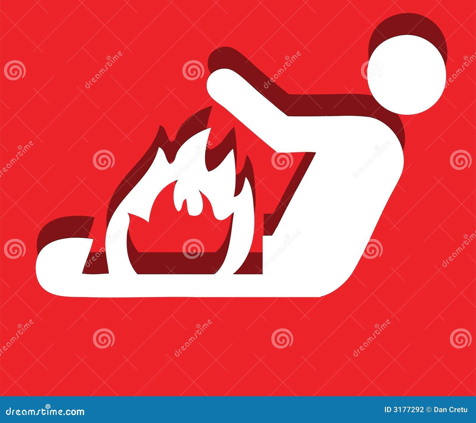 Mens van brand