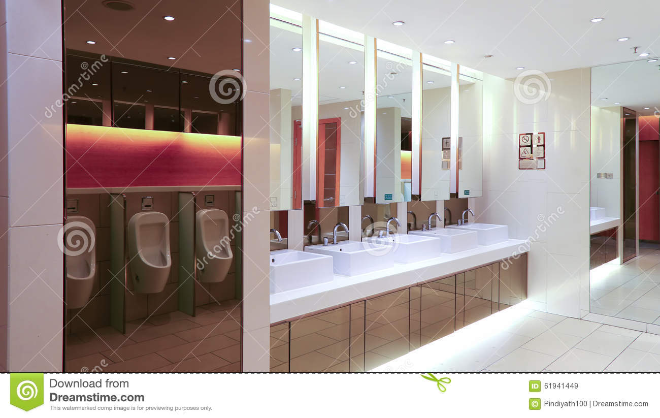 Mens Washroom Or Toilet Interior View Stock Image Image