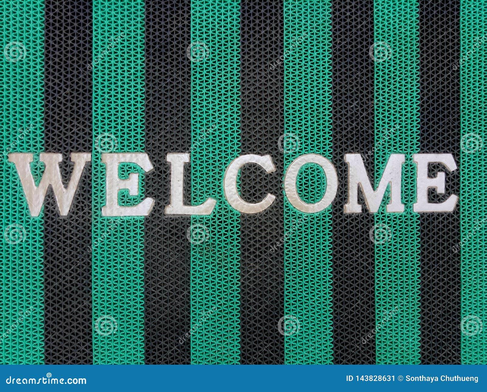 Mensagem bem-vinda na tela