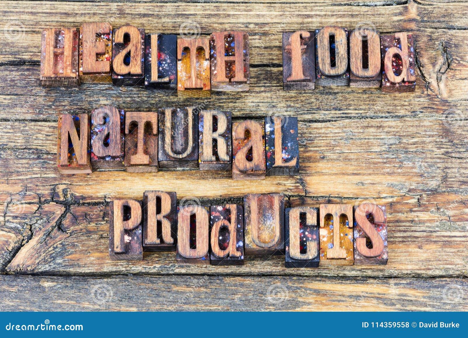 Mensagem da dieta dos produtos naturais do alimento natural