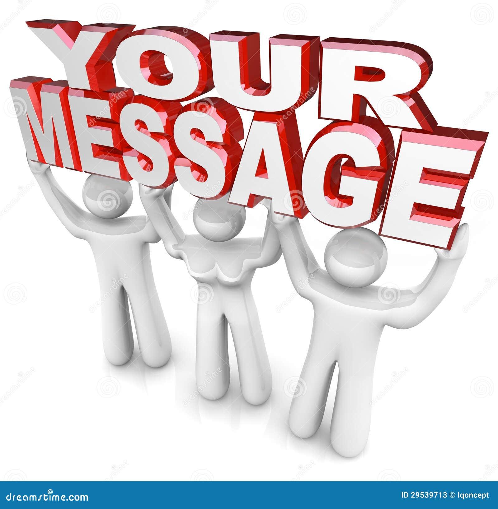 A mensagem de Team People Lift Words Your que anuncia o Special anuncia