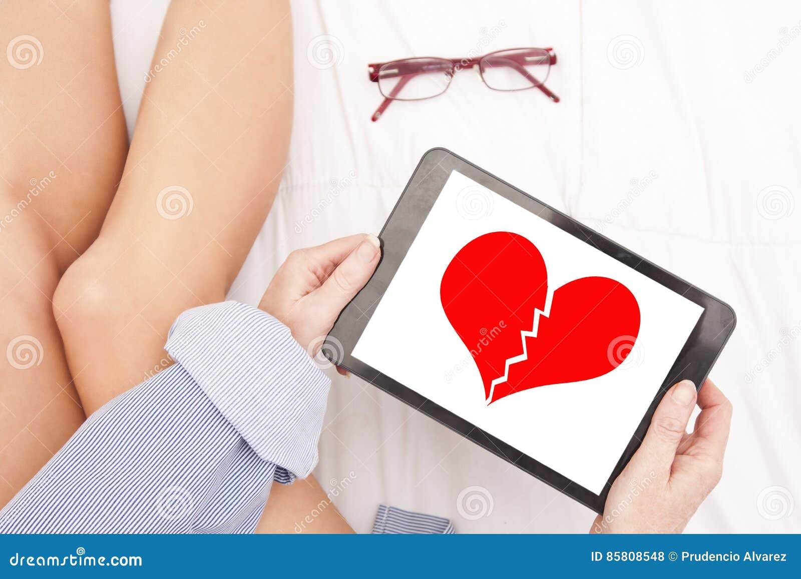 Mensagem do coração quebrada