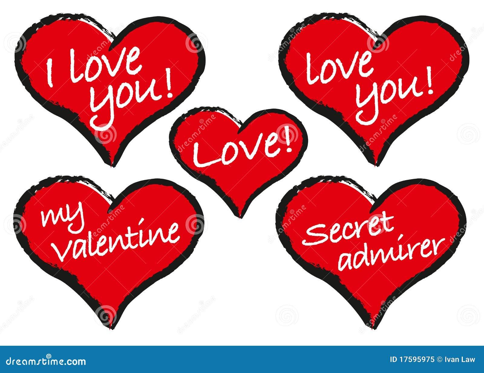 Mensagens Do Coração Foto De Stock Royalty Free