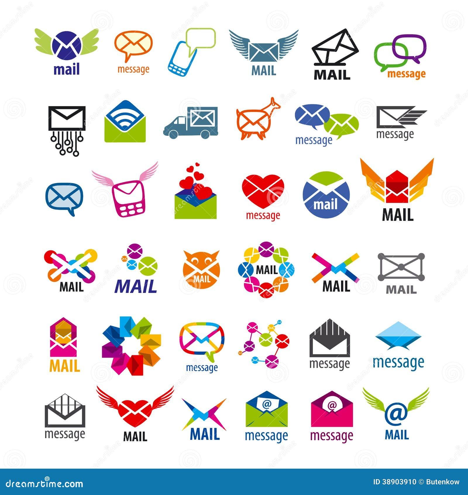 Book logos stock vector image 42714029 - Mensagens Do Correio Dos Logotipos Do Vetor Foto De Stock