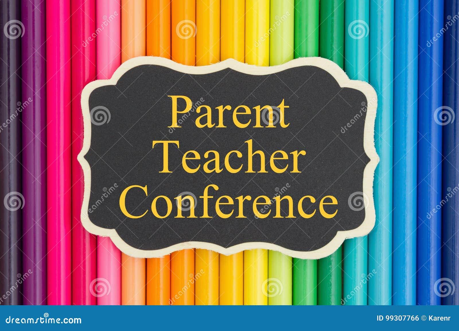 Mensaje de la conferencia del profesor del padre en la pizarra