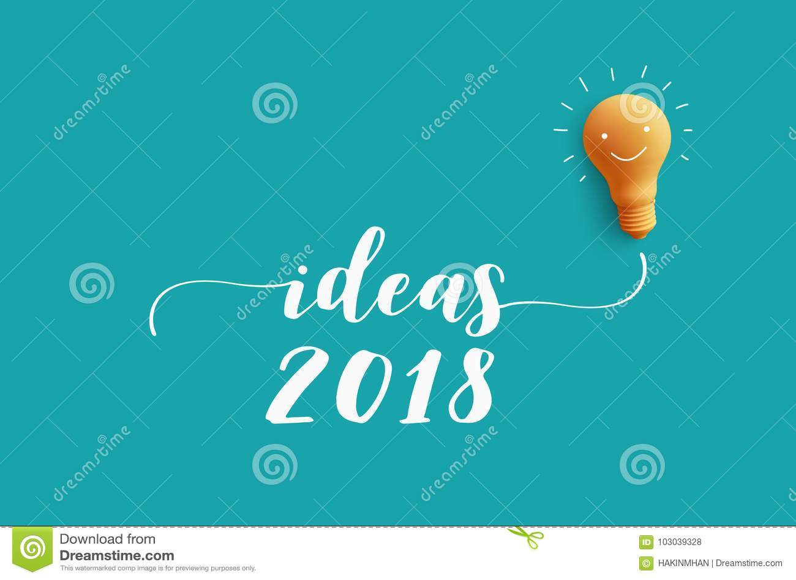 Mensaje 2018 De Las IDEAS Con La Bombilla Idea De La Creatividad