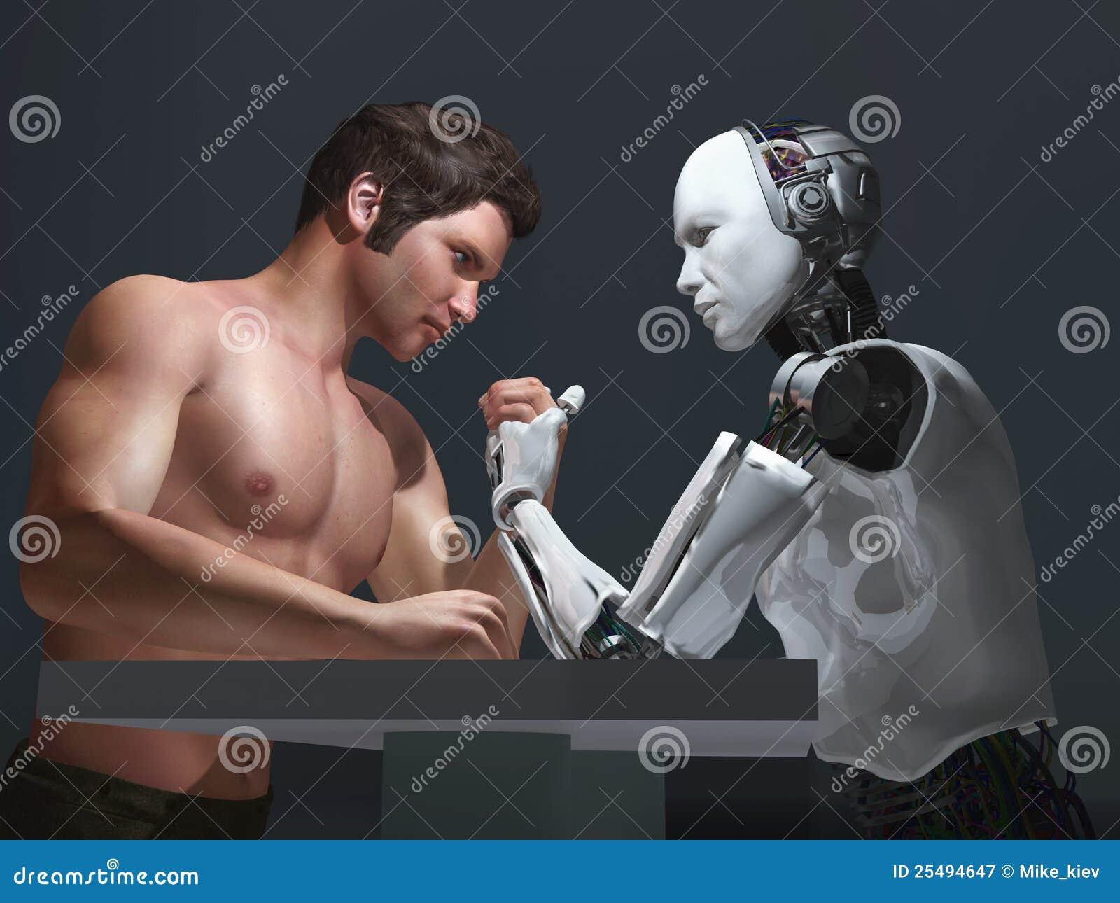 Menschlich-Roboter Konkurrenz