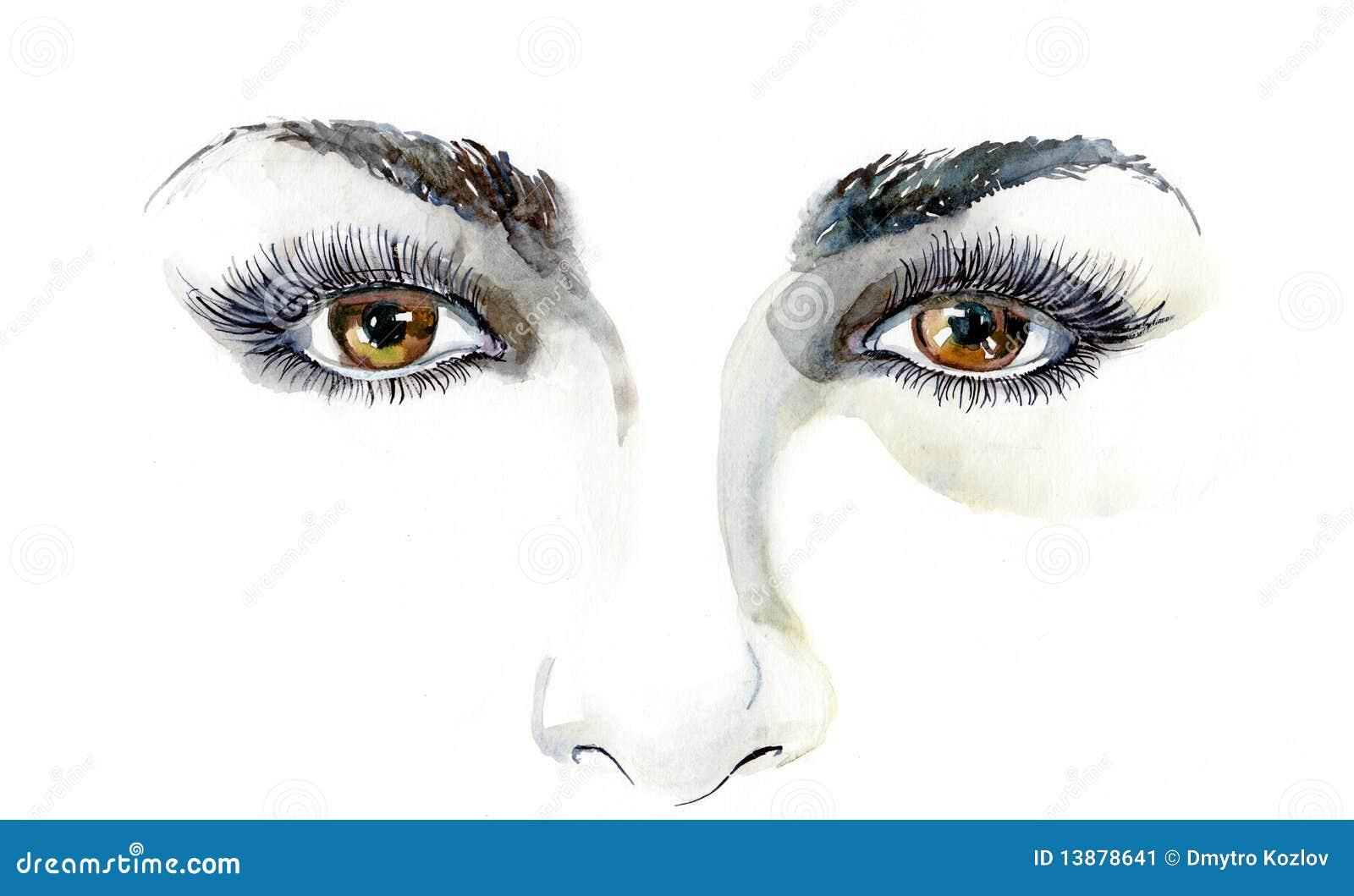 Menschliche Augen stock abbildung. Illustration von konzentrisch ...