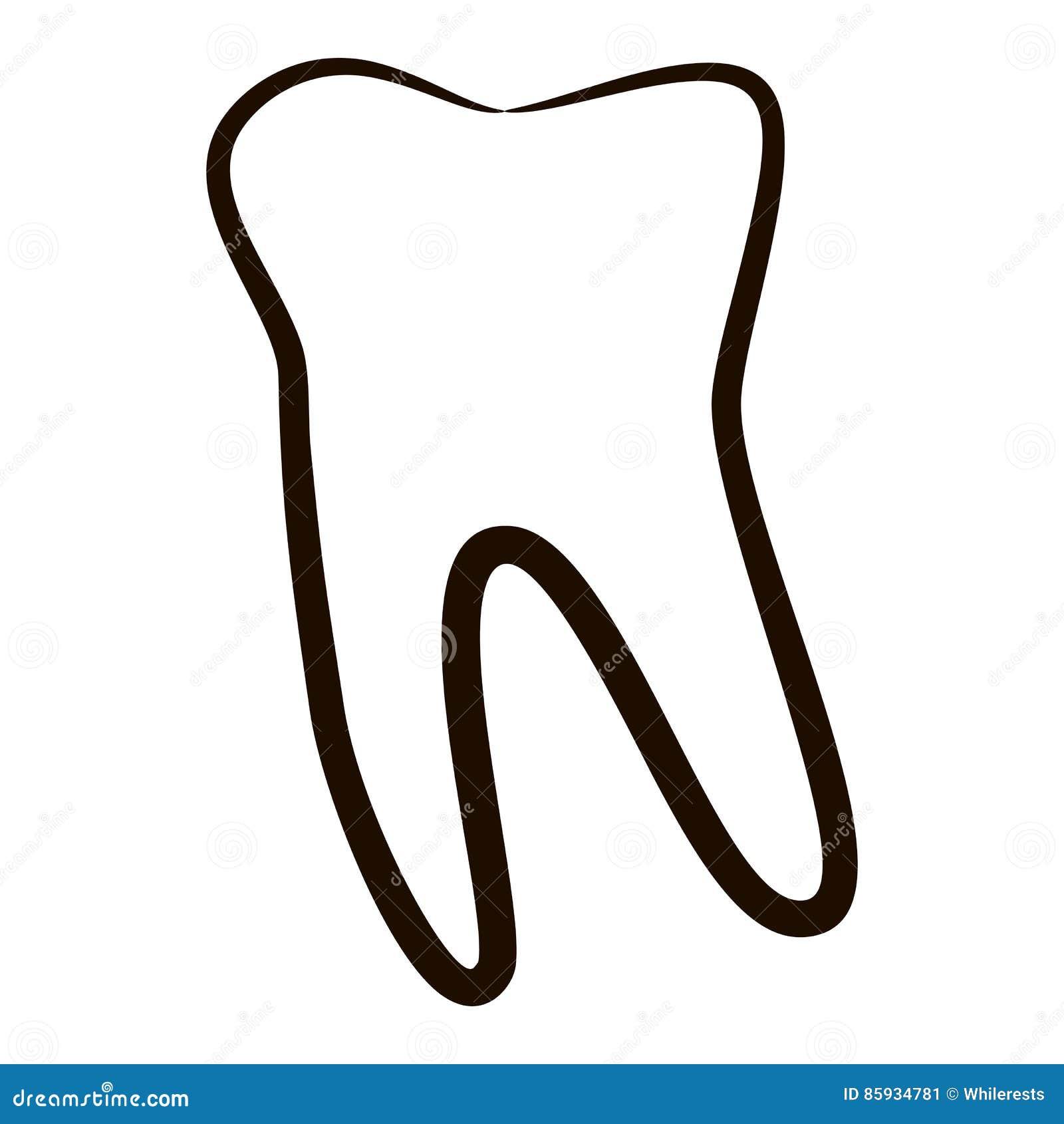 Menschliche Zahnikonen Stellten Auf Weißen Hintergrund Für ...