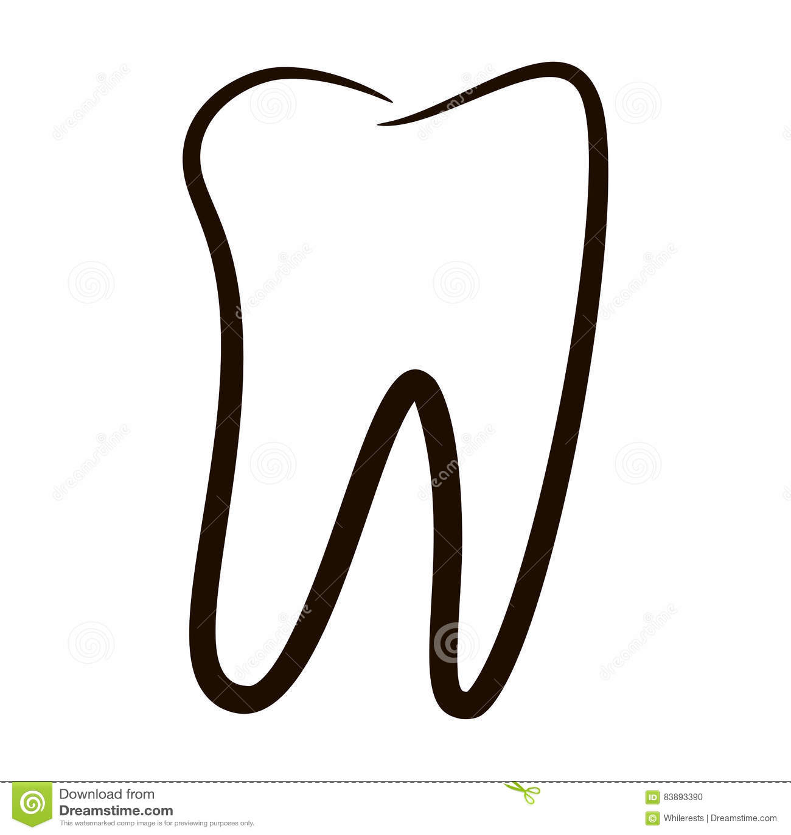 Menschliche Zahnikonen Stellten Lokalisiert Auf Weißem Hintergrund ...