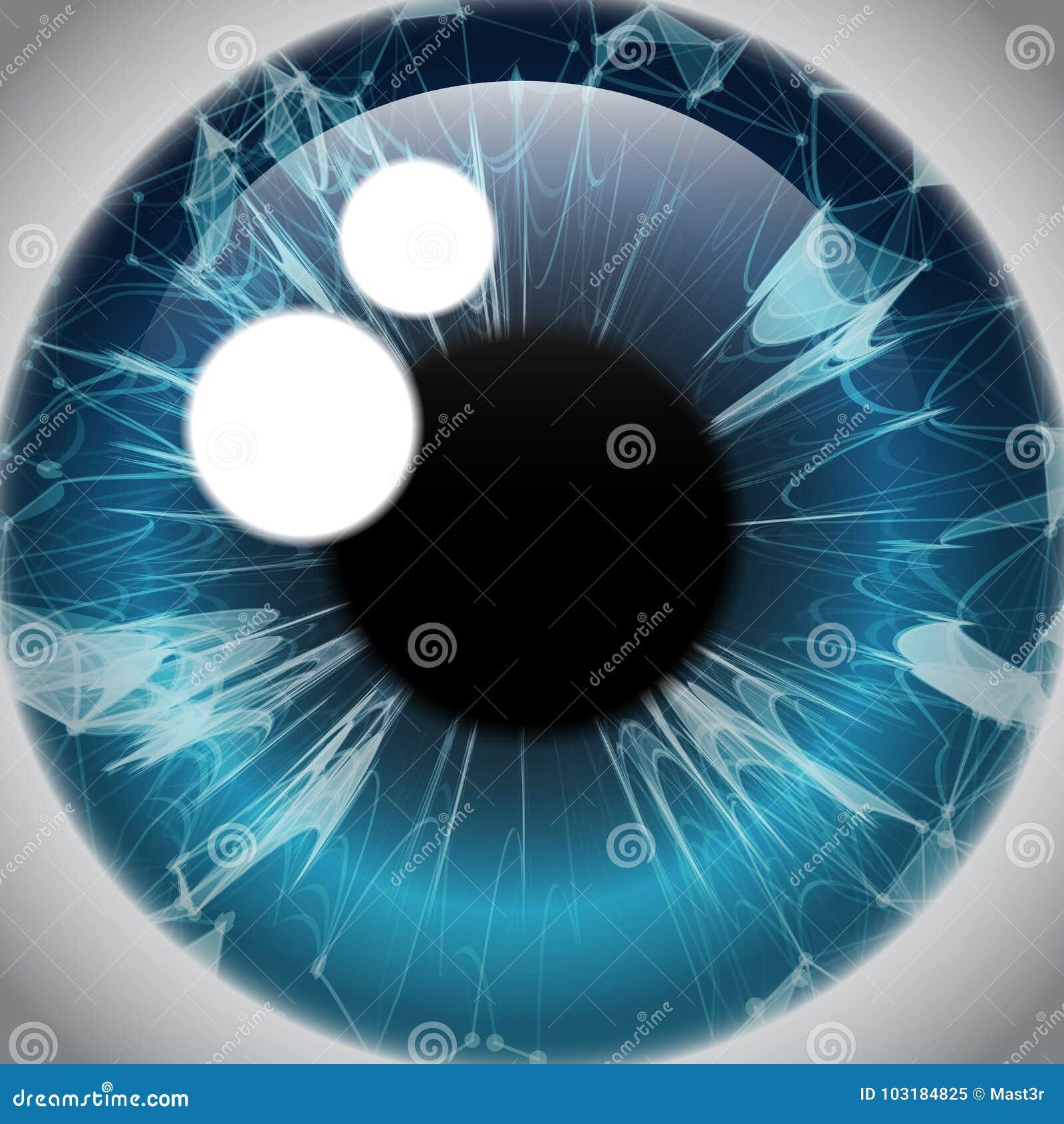 Menschliches Augen-Iris, Realistische Augapfel-Ikone Vektor ...