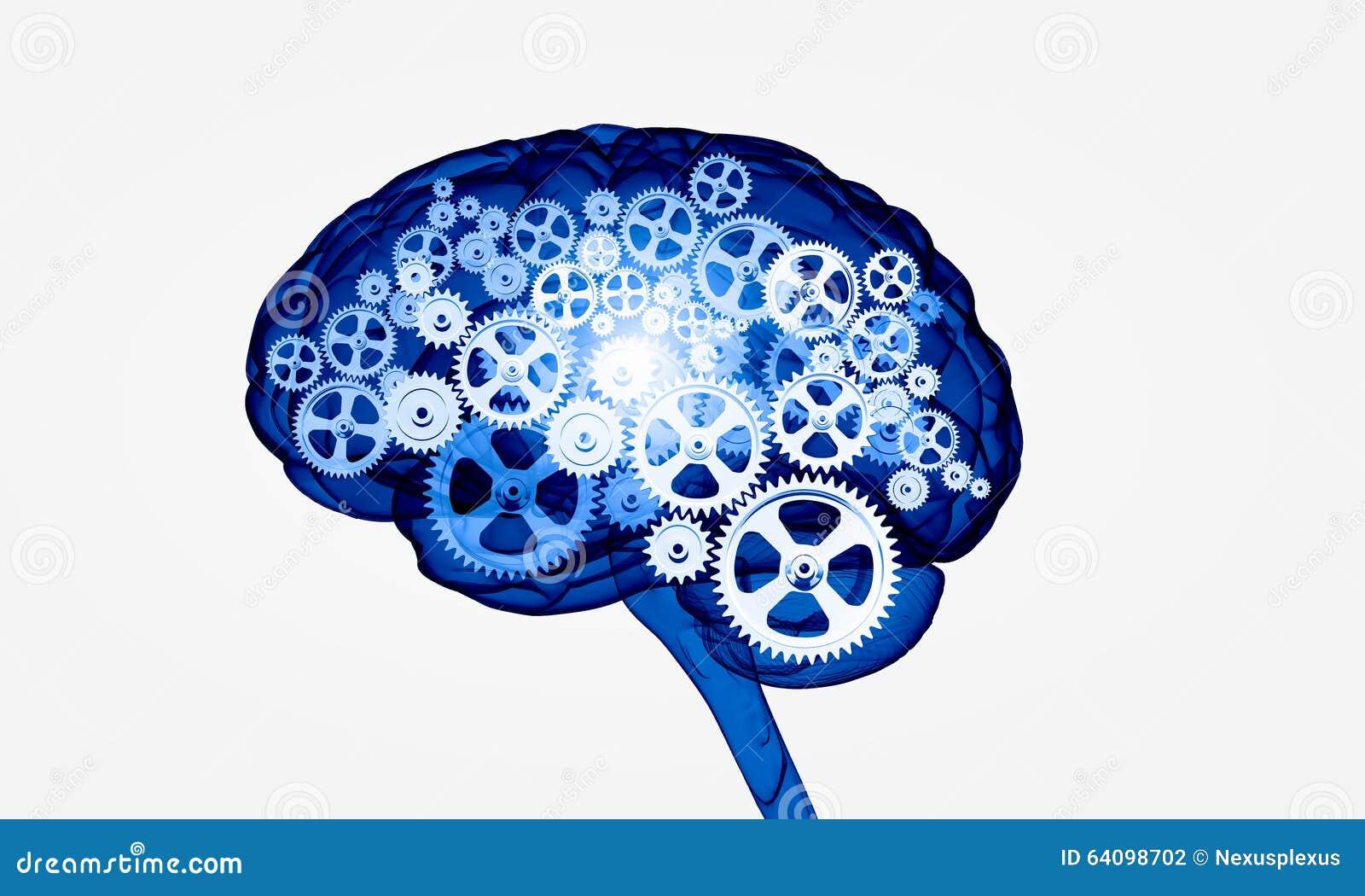 Menschliches Gehirn Digital Stockfoto - Bild von digital, gänge ...