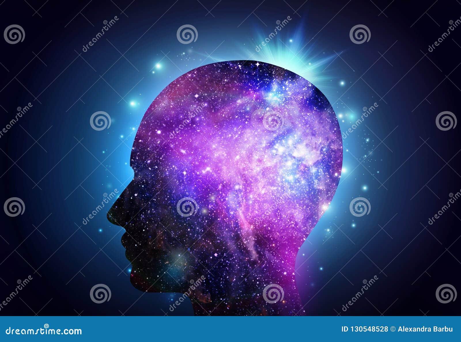 Menschliches Hauptuniversum-Inspirations-Aufklärung