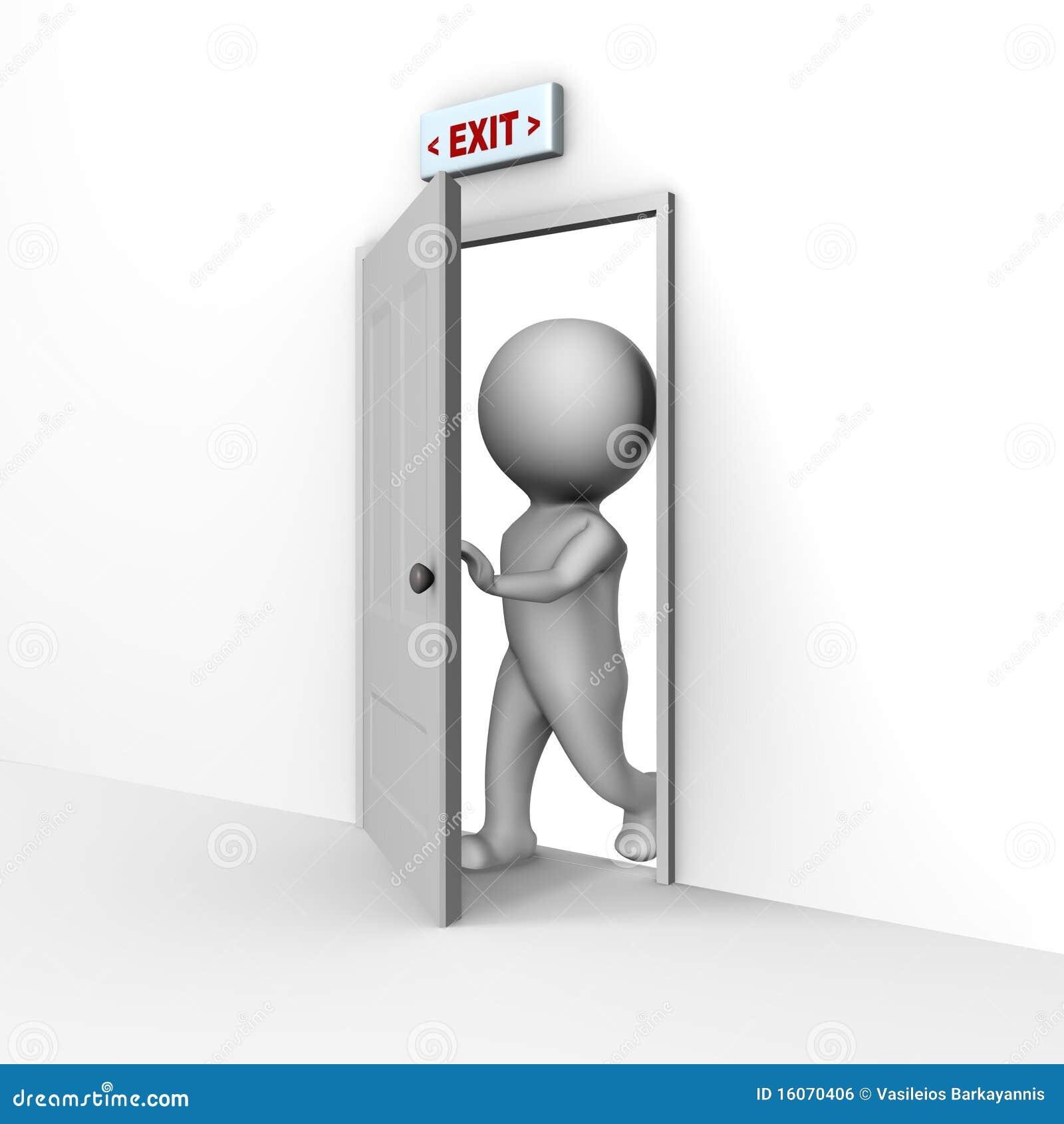Durch Die Tür Gehen Clipart