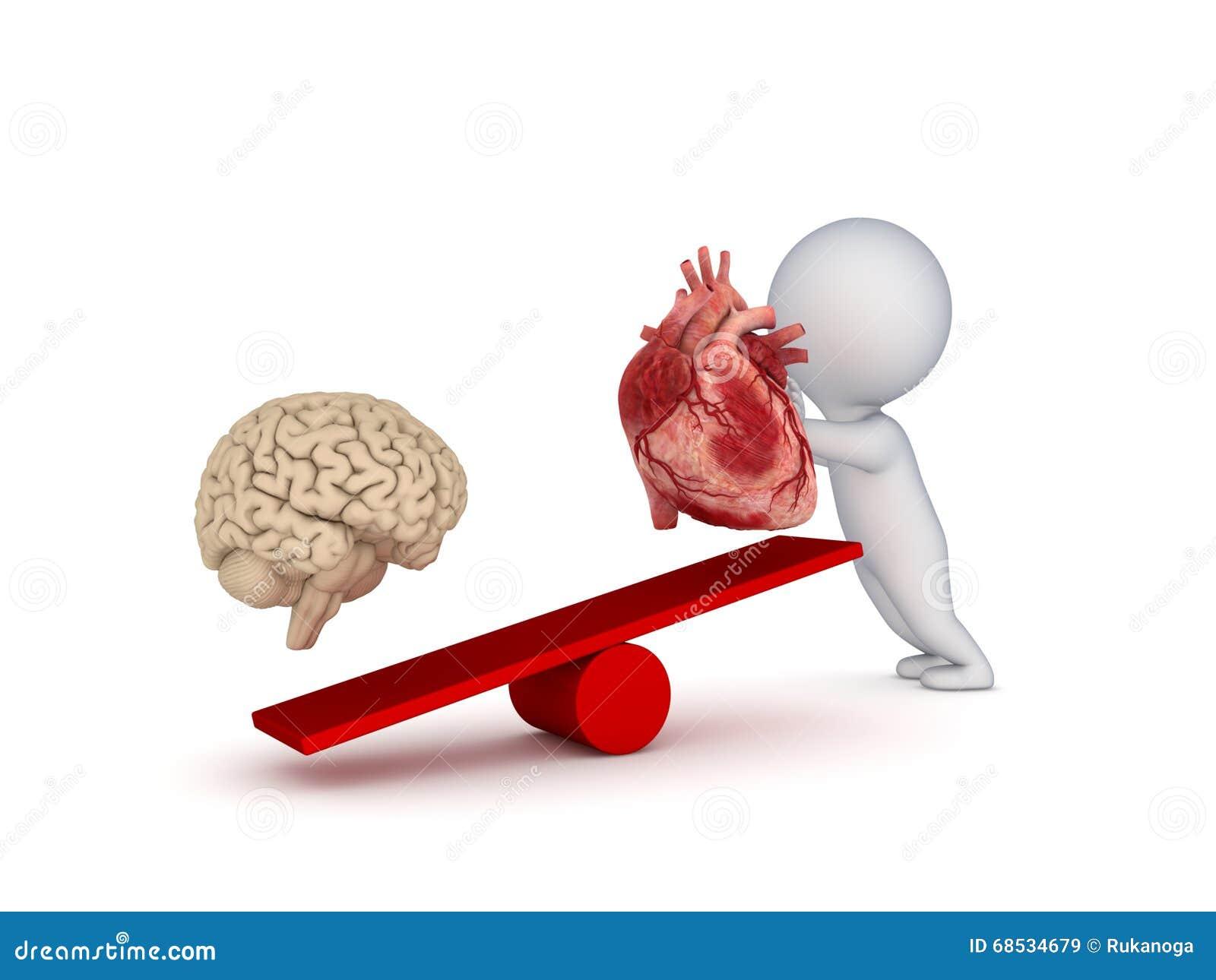 Menschliches Herz Und Gehirn Stock Abbildung - Illustration von ...