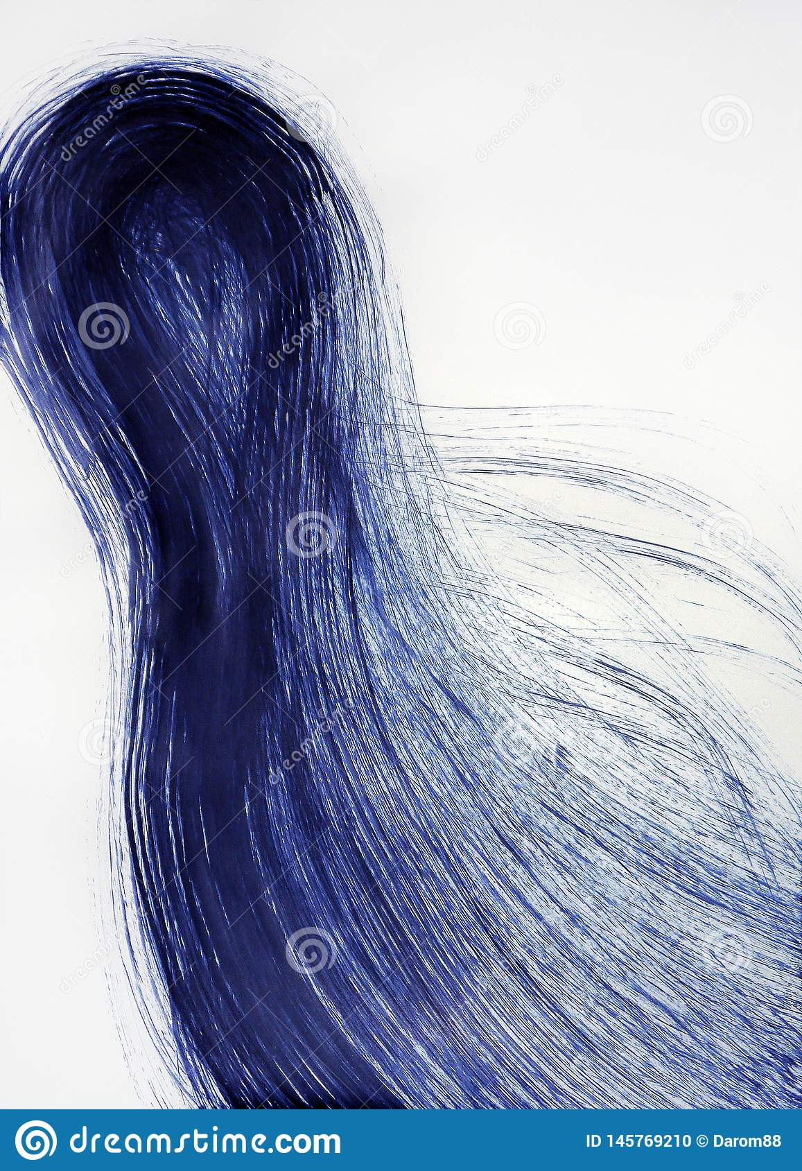 Menschliches sich entwickelndes Haar Endstückenergie von der Bewegung des Kometen